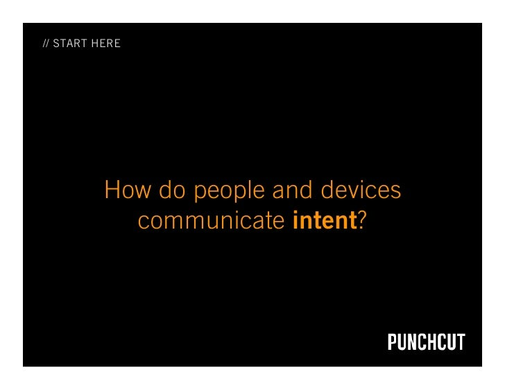 // START HERE               How do people and devices             communicate intent?
