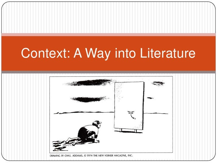 About Children's Literature in Context