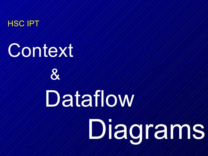 HSC IPT Context  &   Dataflow  Diagrams