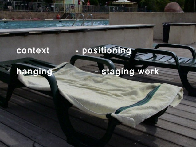 context - positioninghanging - staging work