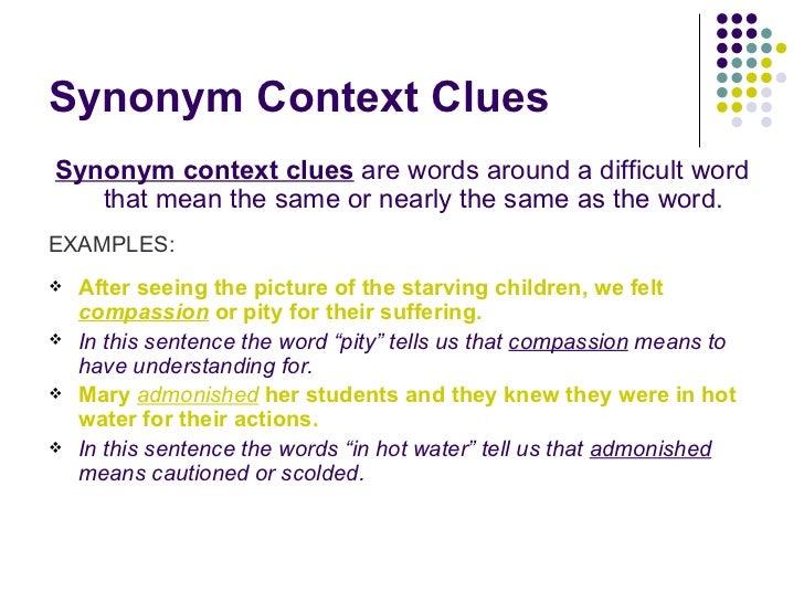 Context clues grade 7.