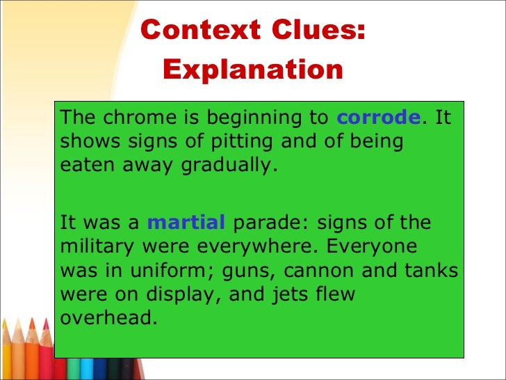 The Context of Explanation