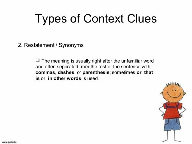 Using syntactic & semantic context clues to determine meaning.