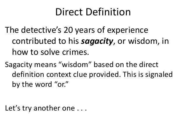 Perfect Image Gallery Sagacity Definition