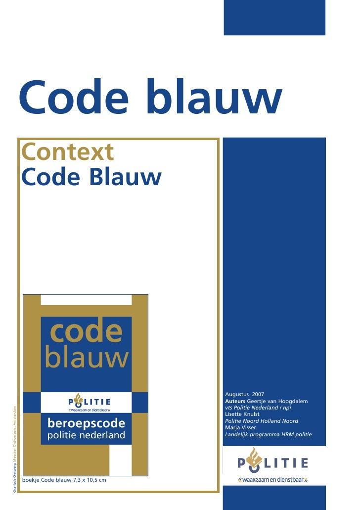 Code blauw                                                 Context                                                 Code Bl...
