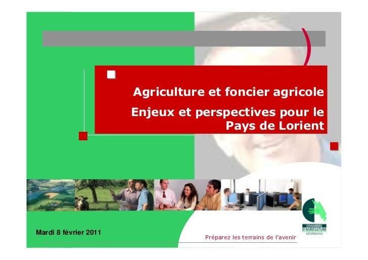 )                       Agriculture et foncier agricole                       Enjeux et perspectives pour le              ...