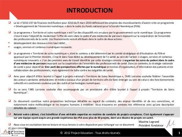 INTRODUCTION  La loi n°2010-237 de finances rectificative pour 2010 du 9 mars 2010 définissant les emplois des investisse...