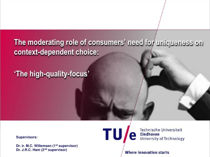 The moderating role of consumers' need for uniqueness on context-dependent choice:<br />'The high-quality-focus'<br />