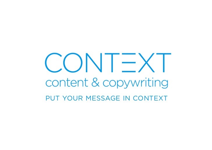 PUT YOUR MESSAGE IN CONTEXT