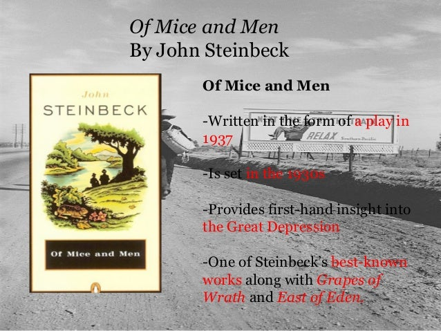 Of mice and men mental disabilities in the 1930s