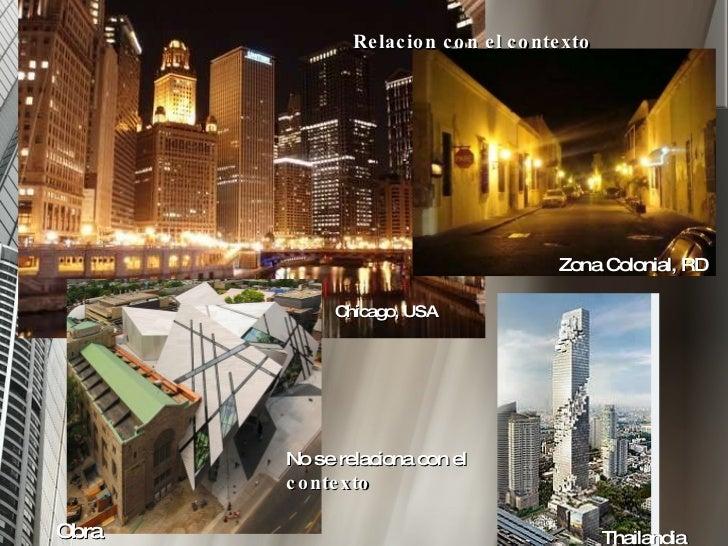 Arquitectura y contexto for Arquitectura que se estudia