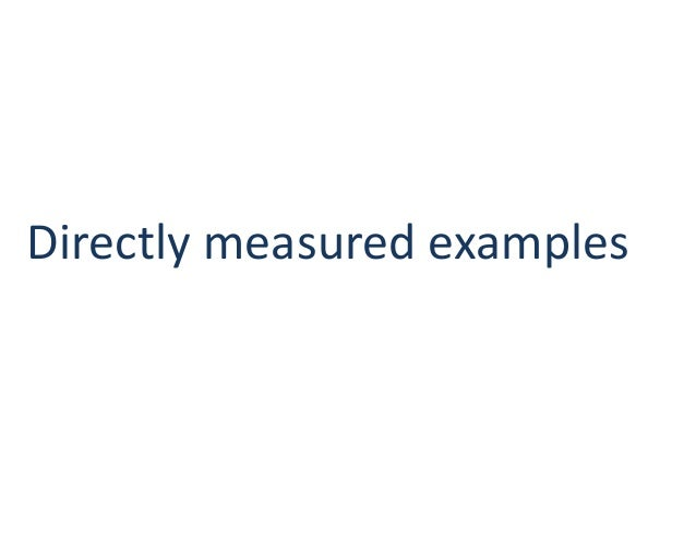Directly measured examples