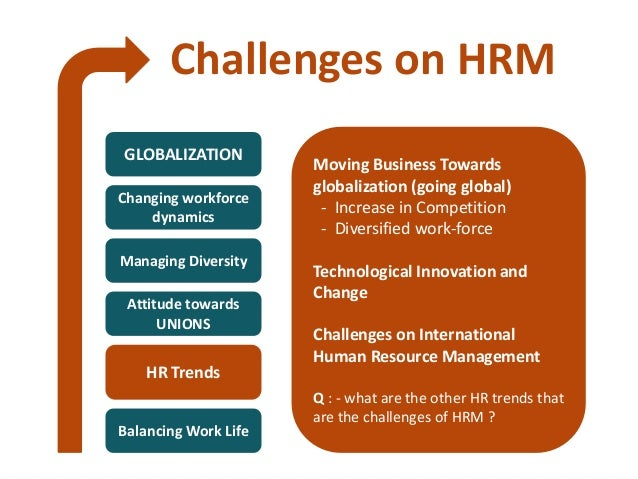 hr trends and challenges essay What other hot human resources trends do you see coming in 2017 hr professionals today face challenges unheard of in earlier, simpler times from strategic thinking to technological proficiency, our list of core competencies will help you determine where your strengths lie and where you may need to.