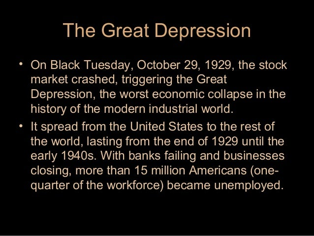 The Depression Facts