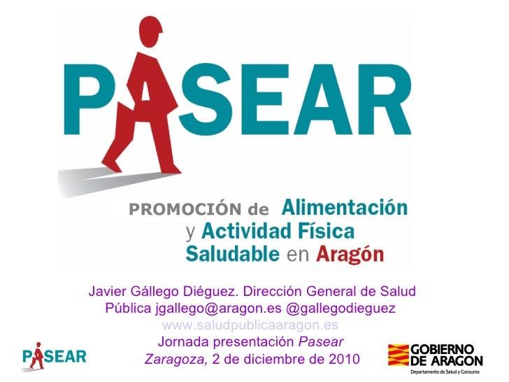 Estrategia Pasear: Alimentación y Actividad física en Aragon