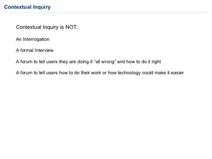 Contextual Inquiry V1