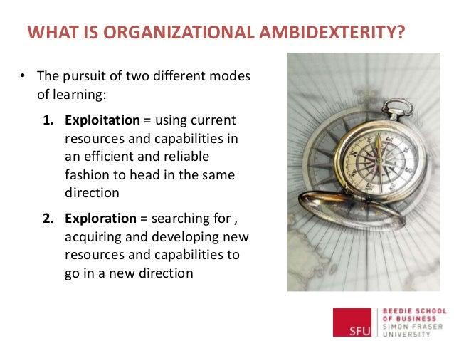 Achieving Organizational Ambidexterity Using Management