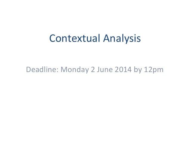 contextual anaylsis