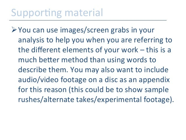How to write a contextual analysis