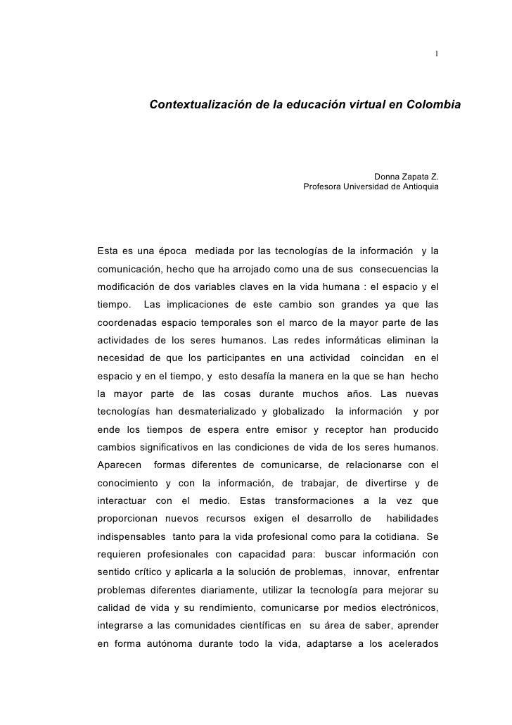 1                Contextualización de la educación virtual en Colombia                                                    ...