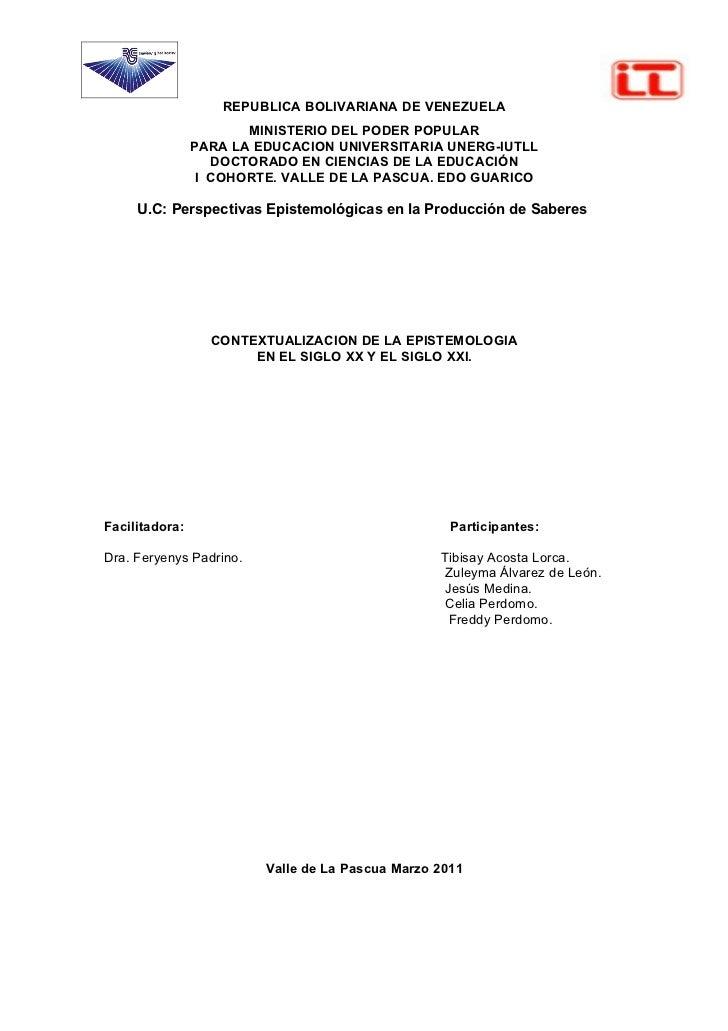 REPUBLICA BOLIVARIANA DE VENEZUELA                       MINISTERIO DEL PODER POPULAR                PARA LA EDUCACION UNI...