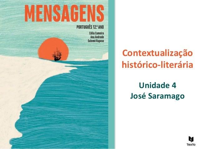 Contextualização histórico-literária Unidade 4 José Saramago