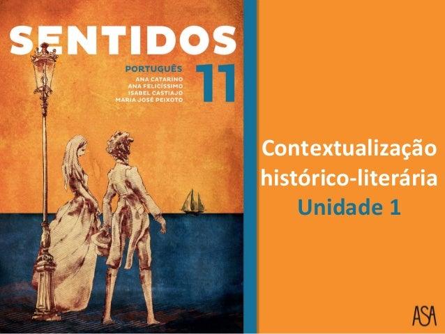 Contextualização histórico-literária Unidade 1