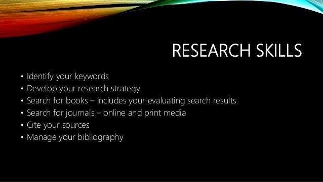 contextualized online search and research skill