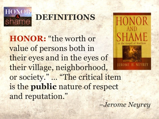 honor and shame in the concept of suicide Crimes of honor and shame: violence against women in non-western and western societies indicate that the concept of honor goes through a transformation in its.
