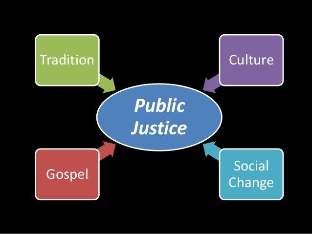 Tradition Culture  Public  Justice  Gospel  Social  Change