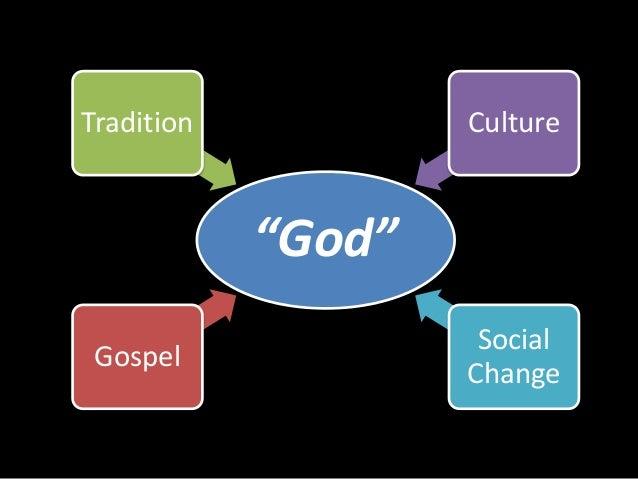 """Tradition Culture  """"God""""  Gospel  Social  Change"""