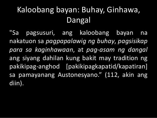 """Pag-iisang-dugo:  """"Sa ganitong panlipunang seremonyang Pilipino  sa sinaunang mga banwa nabubuo,  nagkakabuklod, at nagkak..."""