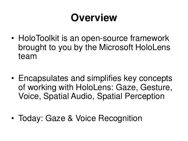 HoloToolkit for Unity - Gaze & Voice