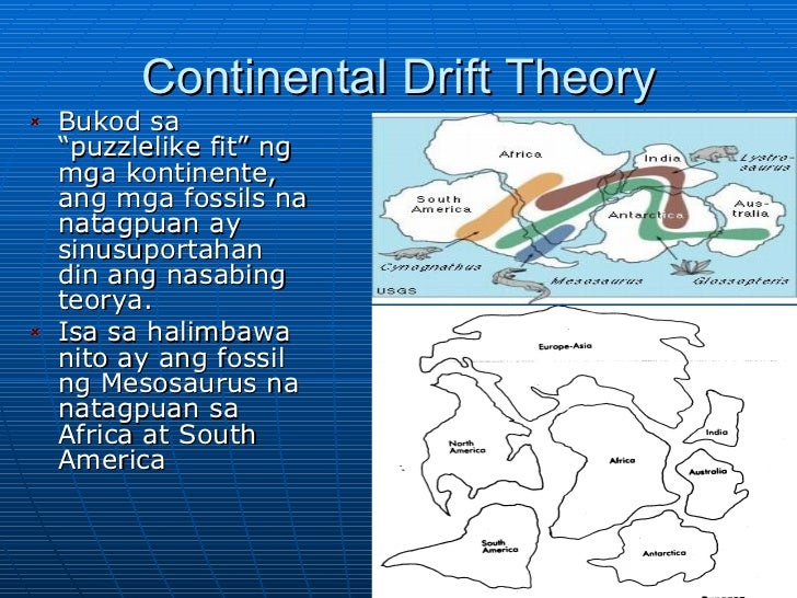 Wegener and the Theory of Continental Drift