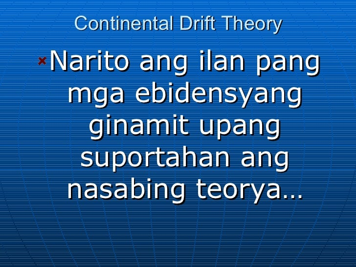 Wegener and Continental Drift Theory