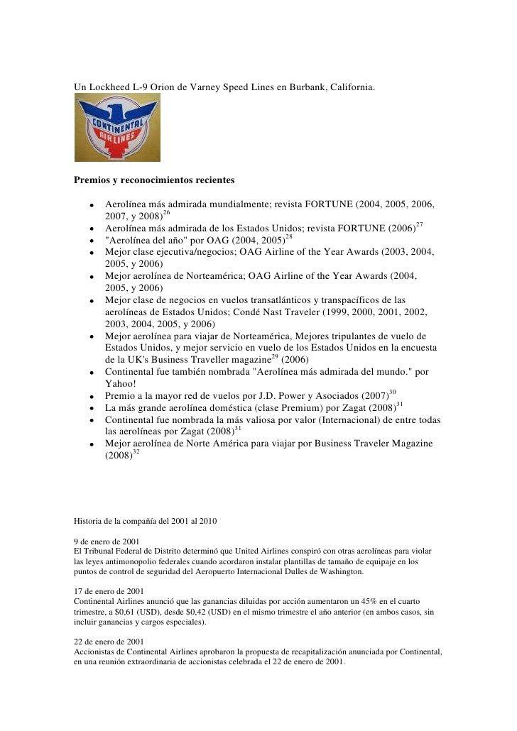 Un Lockheed L-9 Orion de Varney Speed Lines en Burbank, California.<br />Premios y reconocimientos recientes<br />Aerolíne...