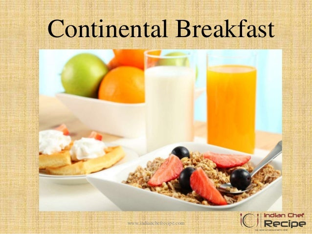 Continental Breakfast Menu