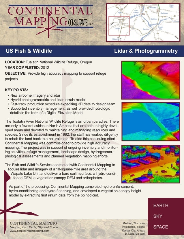 US Fish & Wildlife Lidar & Photogrammetry  LOCATION: Tualatin National Wildlife Refuge, Oregon  YEAR COMPLETED: 2012  OBJE...