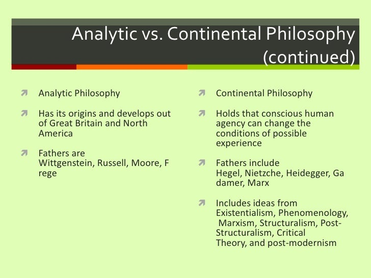 The Idea of Continental Philosophy