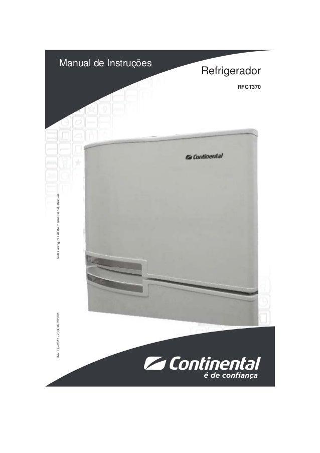 Refrigerador  RFCT370  Rev. Fev/2011 - 238C4572P001 Todas as fi guras deste manual são ilustrativas  Manual de Instruções