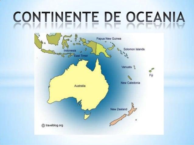 Generalidades De Los Continentes: Continente De Oceania