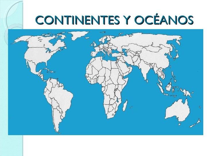 Mapa Para Jugar Dónde Está Continentes Y Océanos: Continentes E Oceanos