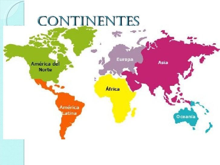 Cuales Son Los 6 Continentes Del Planisferio: Continentes Y Oceanos
