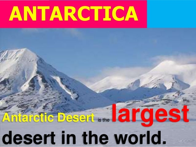Lesson Continents And Countries Of The World - What is the largest desert in the world