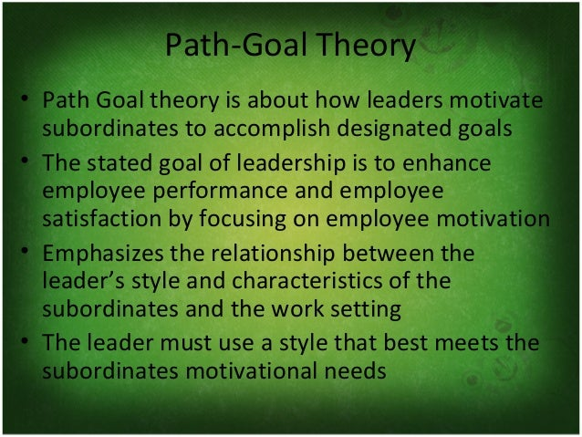 contingency pathgoaltheories