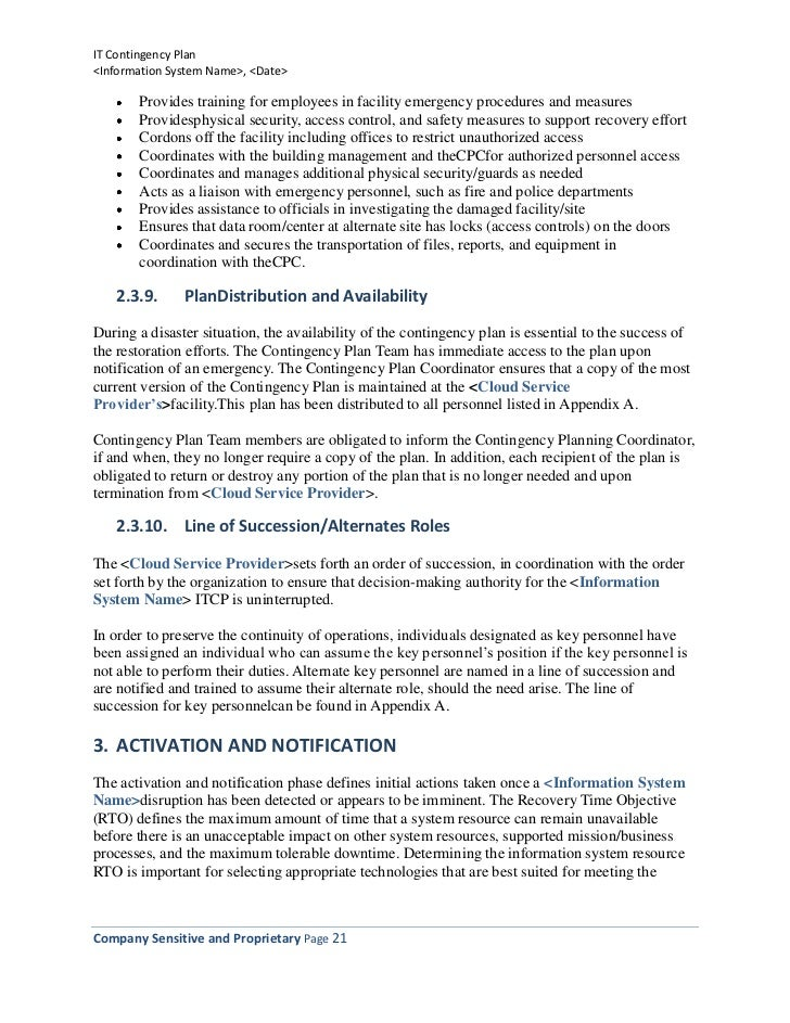 Contingency Plan Example. Contingency Plan Templates For Bia Bcp Drp ...