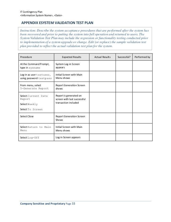 SlideShare  It Contingency Plan Template