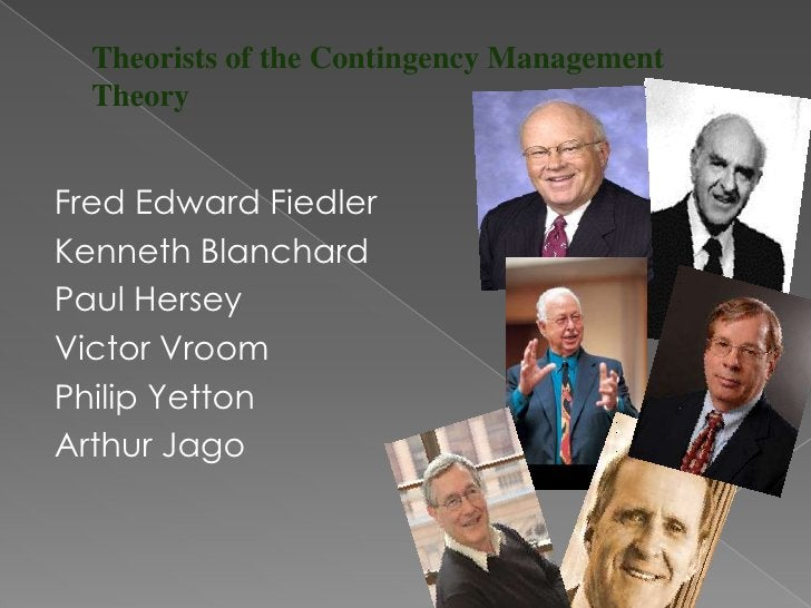 Fred Edward Fiedler (1922) is one of the leading expertson the study of leadership and organizationalperformance and thus ...