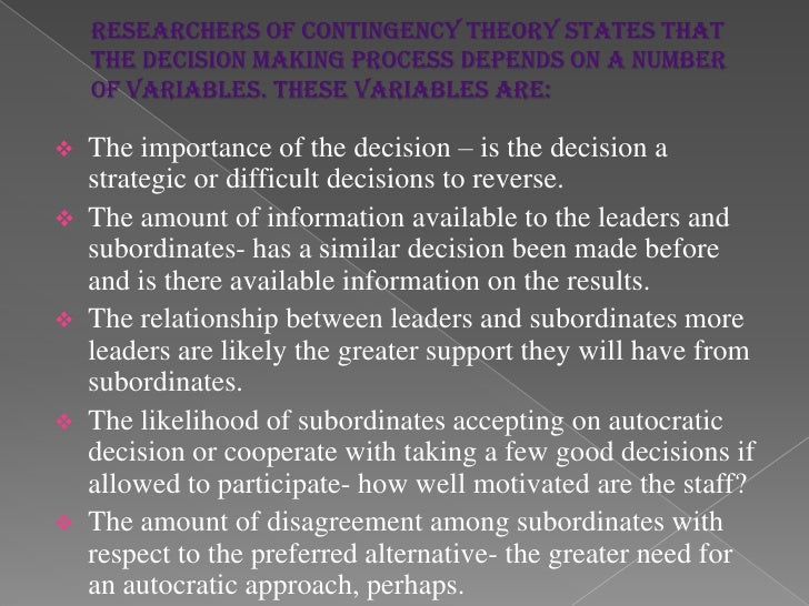 Theorists of the Contingency Management  TheoryFred Edward FiedlerKenneth BlanchardPaul HerseyVictor VroomPhilip YettonArt...