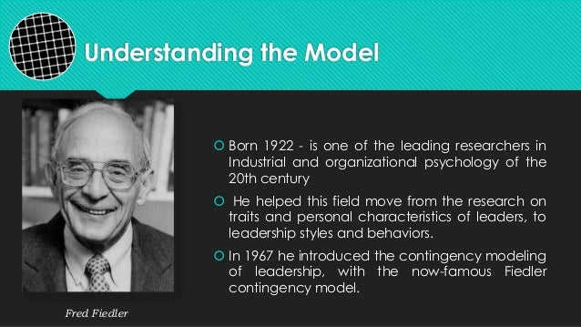 Understanding the Model Born 1922 - is one of the leading researchers inIndustrial and organizational psychology of the20...
